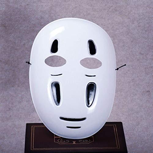 Dodom Spirited Away No-Face Maske Faceless Cosplay Helm Phantasie Anime Halloween Party Kostüm japanische Masken Spielzeug, schwarz