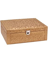Borse Gold Leatherette Watchbox Without Watches (BWC014)