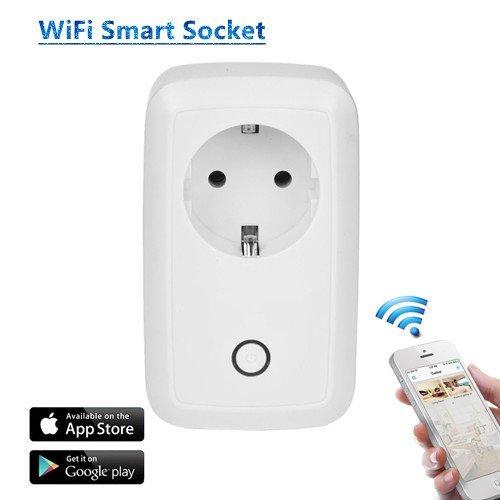 Presa Intelligente Wi-Fi con Controllo Remoto, Controllo Funzione di Temporizzazione Interruttore Presa Elettrica, Protezione da Sovraccarico,Presa senza Fili per Casa e Ufficio Controllato da Remoto
