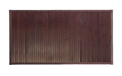 8 modelli 4 misure di tappeti di bambù antiscivolo per soggiorno, bagno, cucina e camera/tappetino multiuso (60 x 120 cm, Marrone)