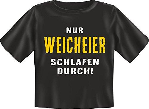 Baby-Shirt - Nur Weicheier schlafen durch - Fun T-Shirt 100% Baumwolle - Größe Baby L 80-86