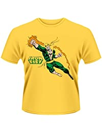 Plastic Head Men's Marvel Comics Iron Fist Punch Banded Collar Short Sleeve T-Shirt