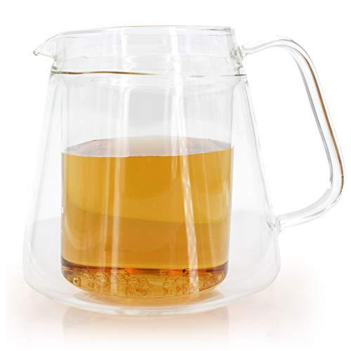 Tee Kanne Wasser Karaffe Krug doppelwandig elegant 550ml - Sonderpreis !