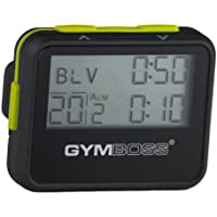 Gymboss Interval Timer and Stopwatch - BLACK / YELLOW SOFTCOAT