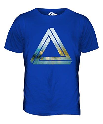 CandyMix Triangolo Impossibile T-Shirt da Uomo Maglietta Blu Royal