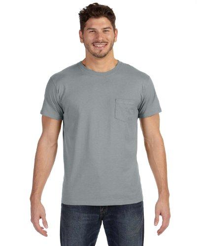 Hanes Herren Asymmetrischer T-Shirt Vintage Grau