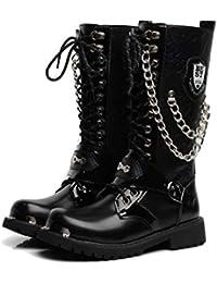 eb09f913 Botas Altas para Hombre Estilo Punk, Botas de Montar Gruesas Extra Grandes  Martin