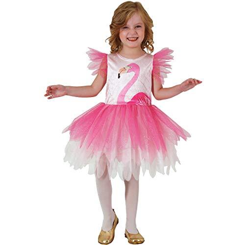 Mortino Kinder Kostüm Flamingo Rosalie Kleid Tier Fasching Karneval Sommerkleid Mädchen (92) (Mädchen Tier Kostüm Kleid)