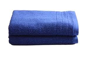 """2 tlg.Duschtuchset """"Selmin"""" 2x Duschtücher 70x140 cm in Royalblau, 100% Baumwolle 600 g/m²"""