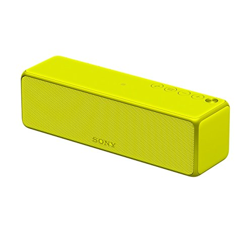 Sony SRS-HG1 tragbarer kabelloser Multi-Room Hi-Res Audio Lautsprecher (NFC, Bluetooth) limonengelb