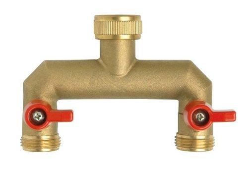 Boutté NR202 Nez de robinet droit selecteur 2 sorties vannes male 20x27, Or