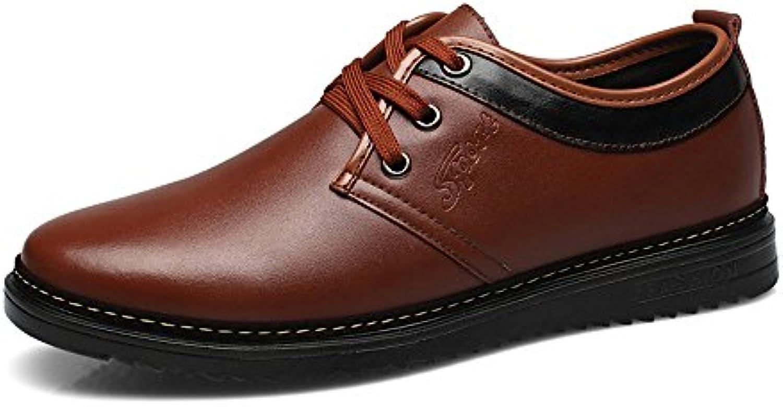 Yaojiaju Formale Geschäfts Schuhe der Männer mattieren PU Leder Obere Schnürung Breathed gefütterte Oxfords SchuheYaojiaju Geschäfts Schuhe PU Leder Obere gefütterte Oxfords Schuhe