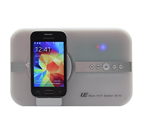 Preisvergleich Produktbild 10 Watt Micro Hi-Fi System für Samsung S4 S5 S3 S2 S6 A3 A5 Alpha K zoom POCKET 2 Trend Lite Young 2 DUOS TAB 3 SIII mini Note 4 Core J5 .. für Musik Video Bilder mit Micro USB & Bluetooth Soundsystem Lautsprecher Sound Tube Fernbedienung - weiß white weiss