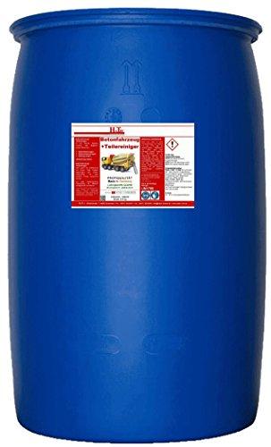HaTec Betonfahrzeug + Teilereiniger 210-kg/Fass ist ein saures Spezialprodukt, das abgebundenen Mörtel selbstständig ablöst als: Betonfahrzeugen-Reiniger, Betonmischanlagen-Reiniger, Betonpumpen