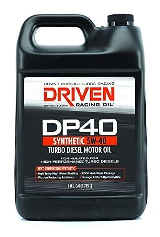 Joe Gibbs Driven Racing Oil 02508 DP40 5W-40 Synthetic Diesel Oil - 1 Gallon Jug Bottle by Joe