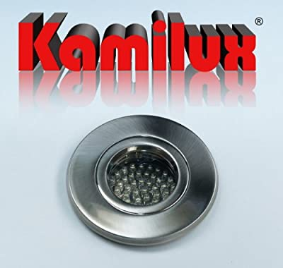 6 X Led Feuchtraum Einbauleuchte Badspot Farbe Edelstahl-gebrstet Aqua Ip65 60er Led Leuchtmittel - Tageslichtweiss 230v von Kamilux GmbH