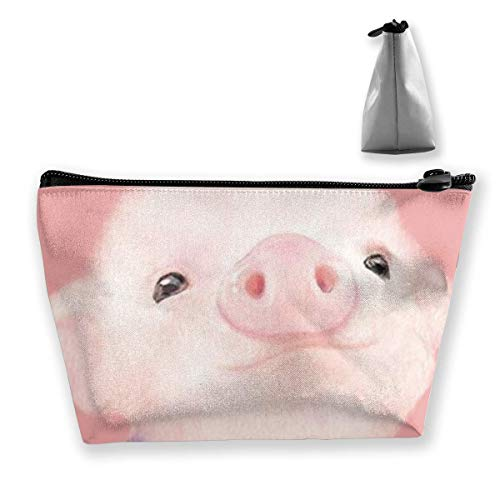 Cosmetic Bag for Women Makeup Pouch Coin Purse Cute Travel Organizer Bag Waterproof Pink Pig -