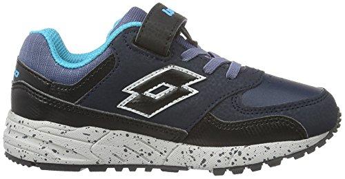 Lotto Strada Ii Cl Sl, Chaussures de Football Mixte Bébé Bleu (Nvy Dk/Blk)