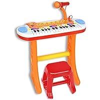 Bontempi Elektronisches Keyboard mit Mikrofon und Hocker (13 3225) preisvergleich bei kleinkindspielzeugpreise.eu