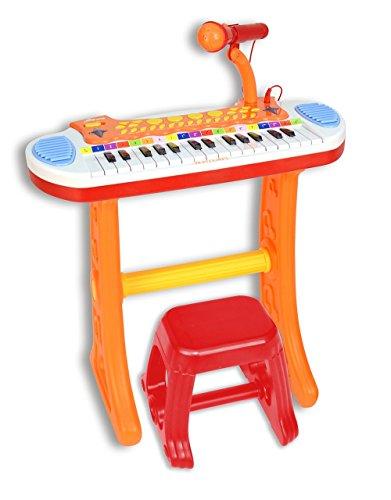 Bontempi 13 3225 -  baby - tastiera 31 tasti con microfono gambe e sgabello