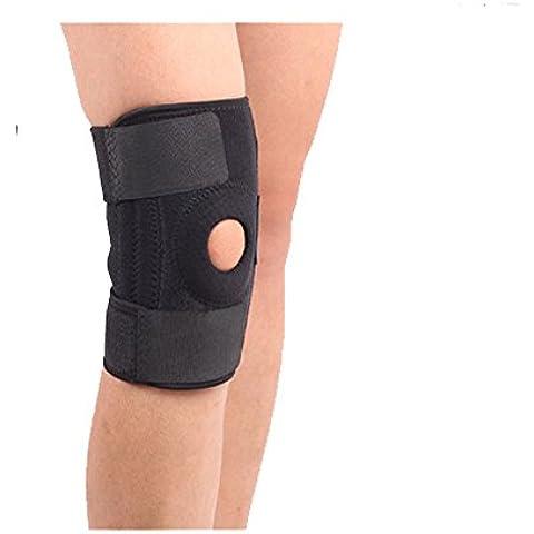 ALAIX ajustable para Soporte deportivo para rodilla protecciones Correa de rodillera Negro