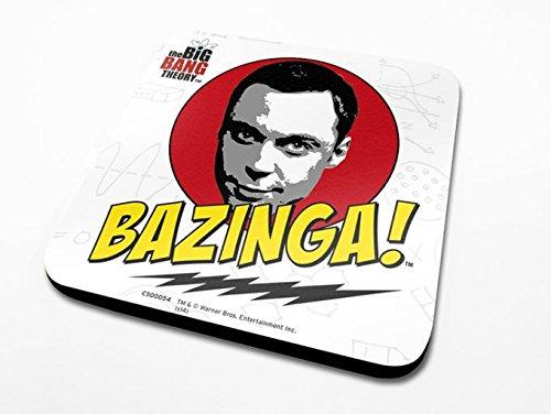 Pyramid International The Big Bang Theory Bazinga Officielle Dessous-de-Verre Housse de Protection en mélamine avec Base en liège, Multicolore, 10 x 10 cm