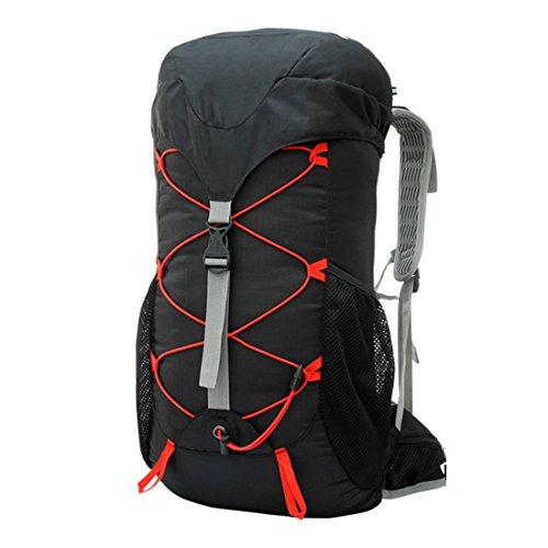 Fahrradrucksack, iTECHOR 35L Unisex Outdoor Sports Camping Wasserdichte Ultraleicht Wandern Fahrradrucksäcke Trekkingrucksack Wanderrucksack Rucksack-Schwarz