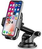 Cocoda Soporte Movil Coche, Salpicadero / Parabrisas Soporte Móvil para Coche, 360° Rotación Brazo Extensible Sujeta Porta Movil Coche con Botón de Liberación Rápida para iPhone Samsung Huawei ect