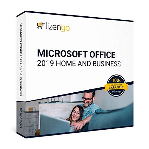 MS Office 2019 Home and Business - Vollversion 32 bit & 64 bit Neuer und originaler Produktschlüssel | Box Inkl. Anleitung von Lizengo