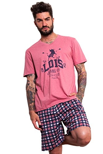 Lois Herren Schlafanzug Aprikose