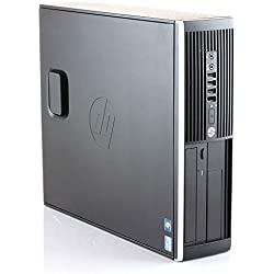 HP Elite 8300 Ordinateur de bureau Intel Core i7-3770, 8 Go de RAM, disque SSD 480 Go, Windows 10 Pro ES 64 Noir (reconditionné)