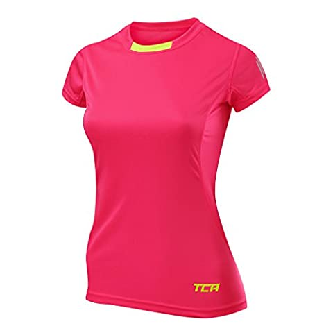 TCA Womens Short Sleeve Atomic QuickDry Gym Training Top - Pink L
