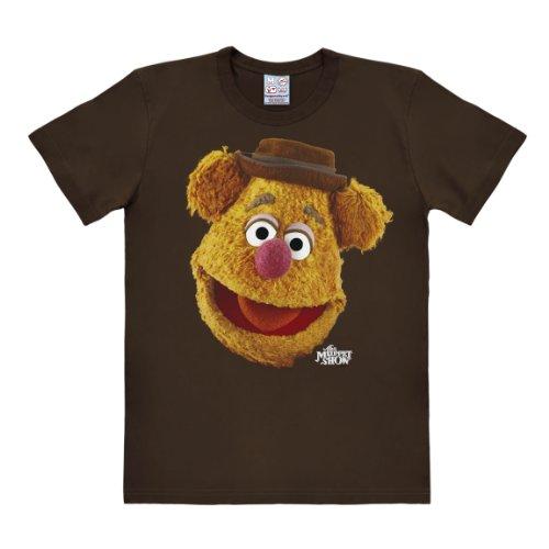 zzie Bär - Muppet Show Fozzy - Portrait - Rundhals T-Shirt Dunkelbraun - Lizenziertes Originaldesign, Größe S ()