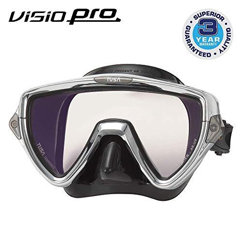 Tusa Visio Pro - Chirurgen Silikon Einglas Tauchmaske mit UV Filter - silber schwarz