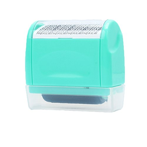 xmdz-mini-secure-stamper-privacy-protection-seal-roller-for-personal-use-34cm-garble-green