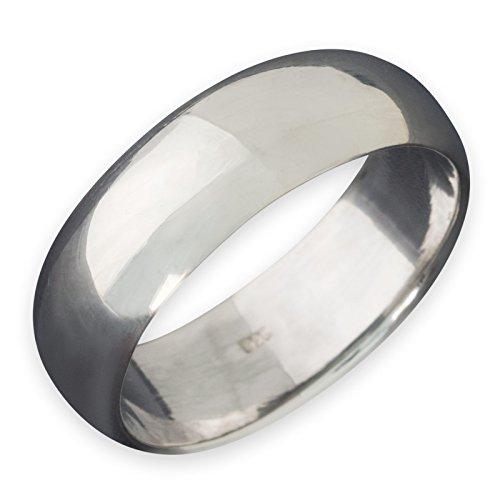 Fly Style Herren Damen Band-Ring 925 Sterling Silber 5 Modelle (4-10mm) risi002, Ring Grösse:21.3 mm, Breite:6 mm - Breites Band-ringe Silber