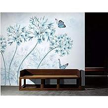 longyuchen papel pintado diseño de Real Jardín Flores Vintage Compatible con la decoración pared pared 3d