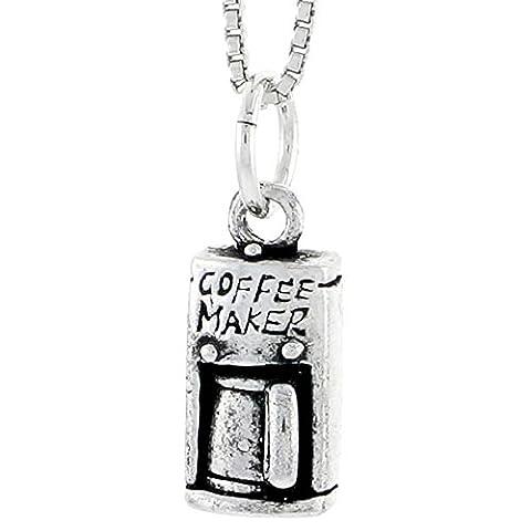 Revoni Kaffeemaschine Unisex Anhänger 925 Sterlingsilber