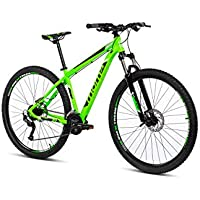 Moma Bikes Mtb29 Peak L Bicicleta de Montaña, Frenos de Disco hidraulicos, 27V, Unisex Adulto, Verde, L