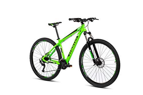 Moma Bikes Mtb29 Peak M Bicicleta de Montaña, Frenos de Disco hidraulicos, 27V, Unisex Adulto, Verde, M