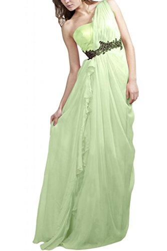 Toscana sposa general-case un-spalla Chiffon Satin damigella vestimento per una serata Party Ball un'ampia vestimento Salbei