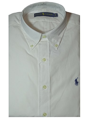 Ralph Lauren Polo Shirt White Poplin Classic Fit X-Large - Ralph Lauren Classic-fit Shirt,