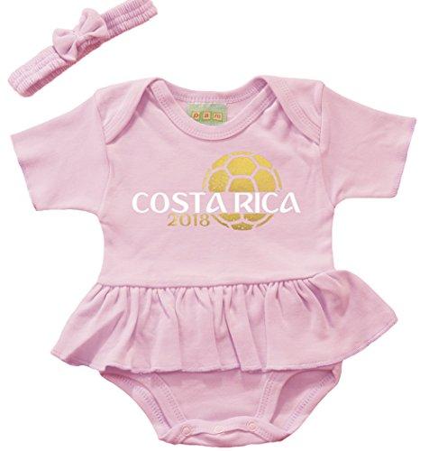 Pam GM Costa Rica Baby-Body für Mädchen, Fußball-Design