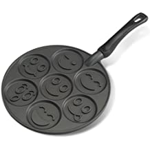 NordicWare 01920 - Sartén para tortitas y crepes, diseño Smiley