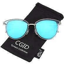 CGID MJ809 Lunettes de soleil Pilot polarisées standard métalliques classiques originales Flash réfléchissantes verres UV400 aPBJoh5