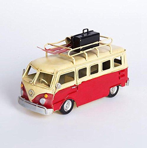 Wmshpeds Personalisierte Mini Busse, Modelle, Retro Vintage, kreative Verzierungen, Café Bar Dekorationen, Kunsthandwerk (Solar Retro-bus)