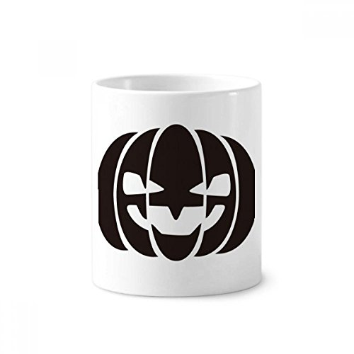 DIYthinker Halloween Schwarz Lächeln Kürbis Keramik Zahnbürste Stifthalter Tasse Weiß Cup 350ml Geschenk 9.6cm x 8.2cm hoch Durchmesser
