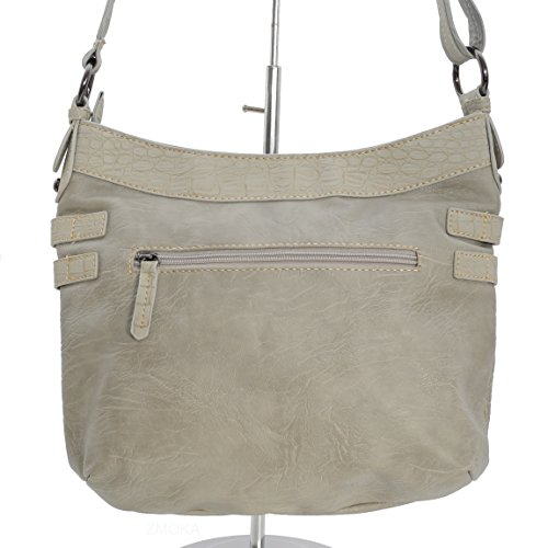 Moderna borsa a tracolla Jennifer Jones–Borsa da donna borsa borsa Shopper Bag–präsentiert von ZMOKA® colori assortiti, pietra (grigio) - 0 pietra