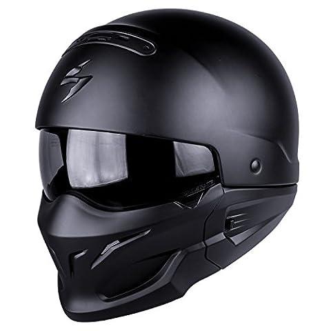 Scorpion EXO-COMBAT Motorbike Helmet, Matt Black, XXL