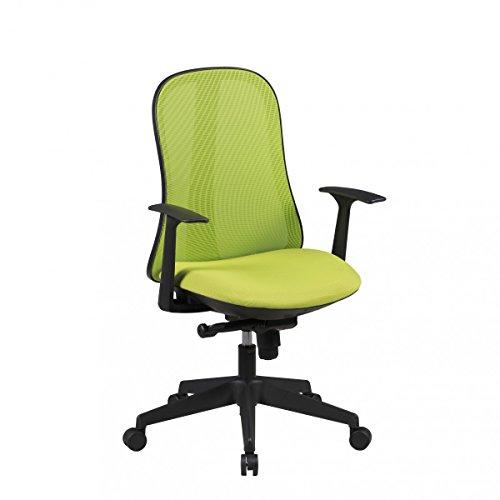 FineBuy Bürostuhl COOL Stoffbezug Schreibtischstuhl Armlehne ergonomisch verstellbar grün Chefsessel Design 120kg Drehstuhl höhenverstellbar Synchronmechanik hohe Rücken-Lehne XXL Hochlehner Stoff -